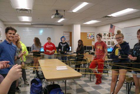Blackhawk staff participates in a team building activity
