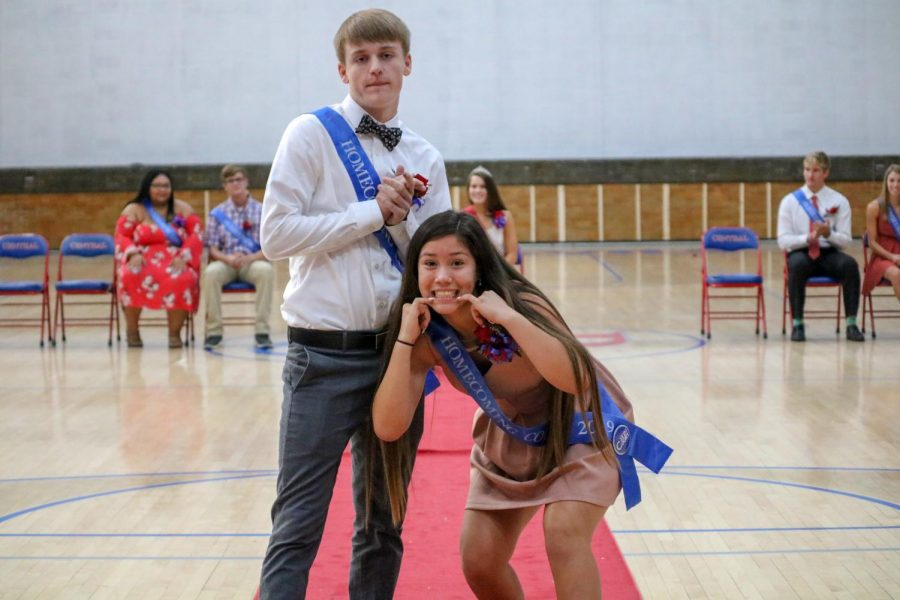 Celia Hernandez and Ever Jens (Homecoming Court)