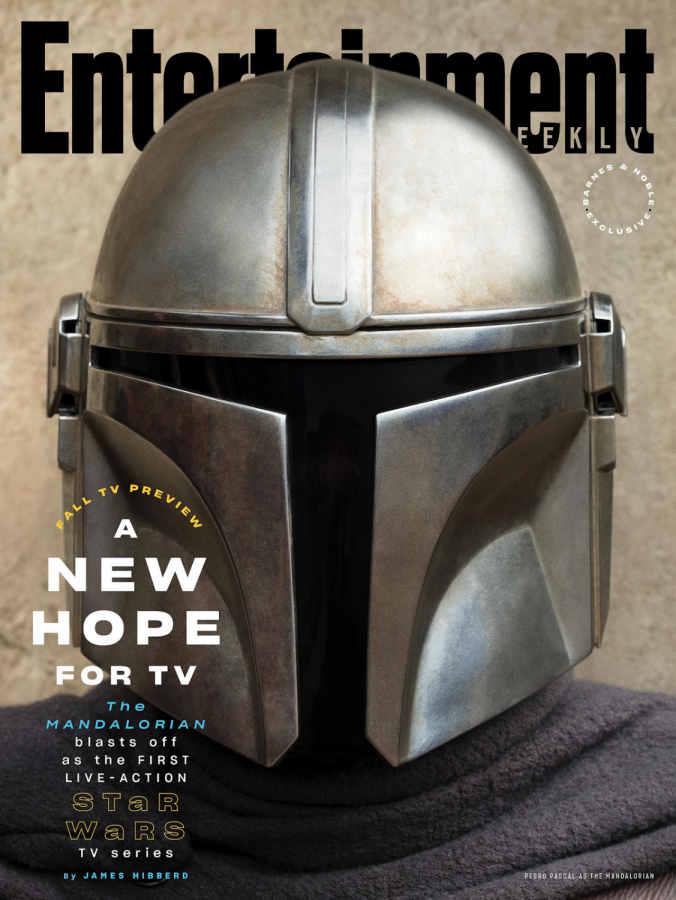 Magazine cover featuring the Mando himself