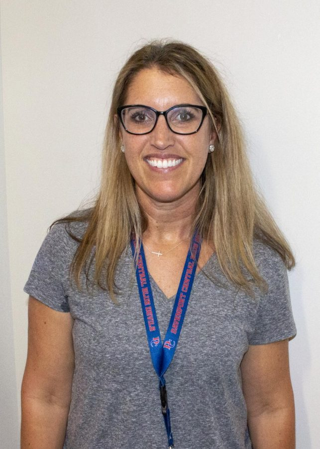 Ms. Alissa Hansel, new Associate Principal of Davenport Central High School, takes time for a quick photo after answering a few questions on Tuesday, Sept. 14, 2021.